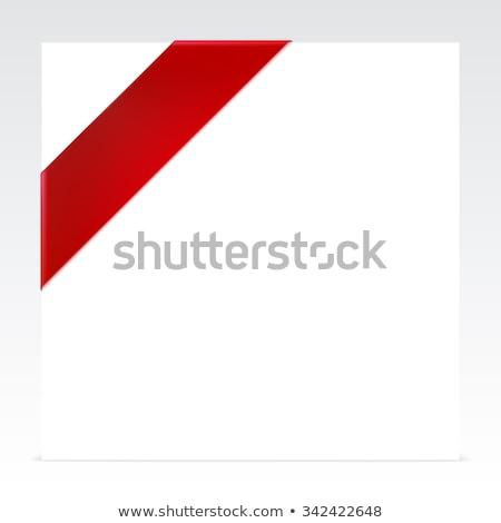 nuovo · rosso · angolo · business · nastro · bianco - foto d'archivio © place4design