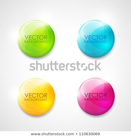 színes · fényes · gombok · szett · tükröződés · fehér - stock fotó © make