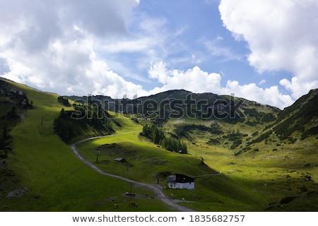Esqui recorrer vale esportes paisagem neve Foto stock © franky242