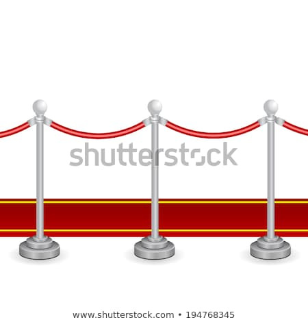 Gold stanchions on white background. Isolated 3D image stock photo © ISerg