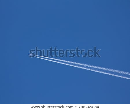 wing of aircraft in clear blue sky Stock photo © meinzahn