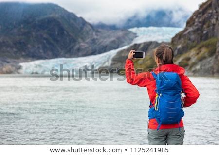 Wandelaars gletsjer groep vijf wandelen manier Stockfoto © eldadcarin