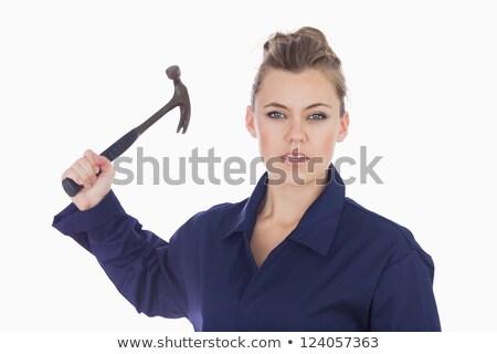 Female technician holding claw hammer stock photo © wavebreak_media