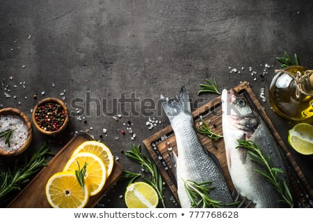 Koken vis schotel Rood mint citroen Stockfoto © macsim