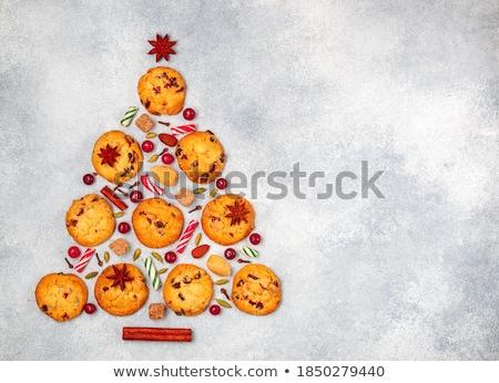 печенье · Рождества · украшение · таблице · фон · конфеты - Сток-фото © juniart