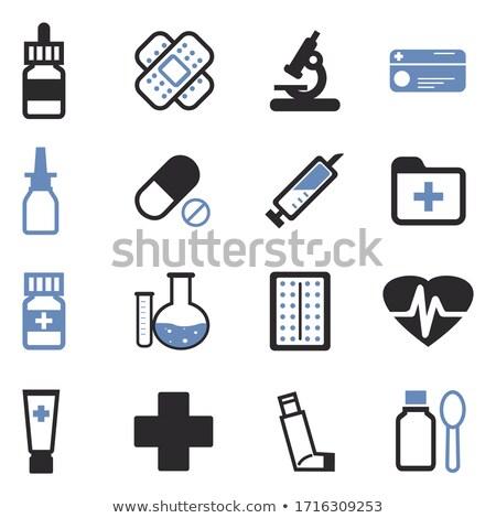 black drop medicine icons stock photo © sergeyt