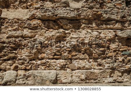 ストックフォト: 古い · 壁 · 石 · オブジェクト · 自然 · 家