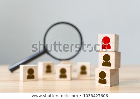 personal development   magnifying glass concept stock photo © tashatuvango