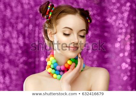 カラフル · ビーズ · 市場 · 宝石 · 美しい · 結晶 - ストックフォト © anmalkov