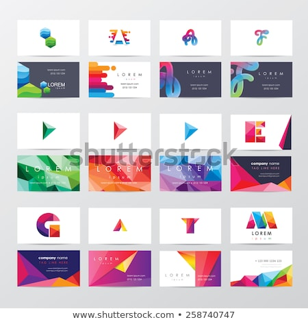 vector colour card paper with various colors stock photo © michaklootwijk