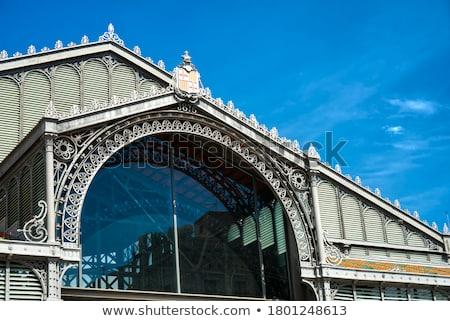 Telhado nascido mercado edifício Barcelona negócio Foto stock © Nejron