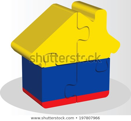 house home icon with Ecuador flag in puzzle Stock photo © Istanbul2009