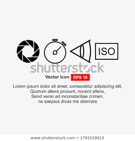 Kamera redőny ikon film háttér felirat Stock fotó © m_pavlov