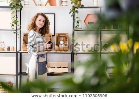 Bio bolt illusztráció nő felirat friss Stock fotó © adrenalina