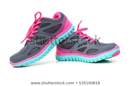 Mulheres sapatos branco moda trabalhar cor Foto stock © EwaStudio