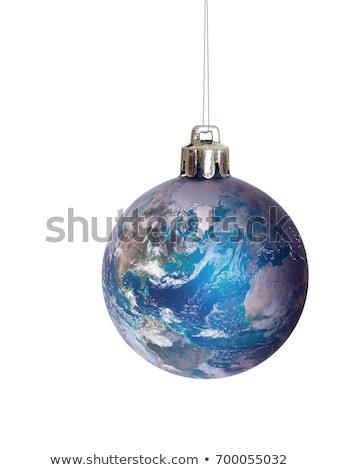 Vrede wereld christmas wenskaart frame kaart Stockfoto © marimorena