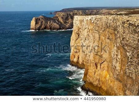 崖 ビッグ 砦 ビーチ 空 壁 ストックフォト © Aitormmfoto