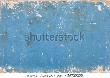 Carton bleu avec des marques d'âge Photo stock © caimacanul