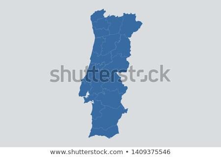 Silhouette carte Portugal signe blanche Photo stock © mayboro