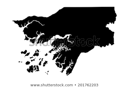 Silhueta mapa assinar branco azul Foto stock © mayboro