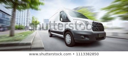 biały · ciężarówka · ruchu · autostrady · słoneczny · lata - zdjęcia stock © ssuaphoto