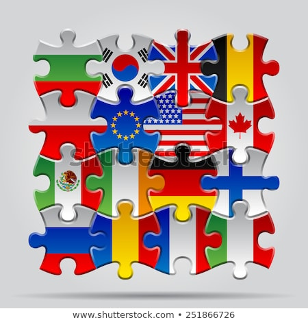 usa and england flags in puzzle stock photo © istanbul2009