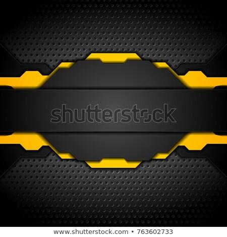 Abstract oranje metalen vector ontwerp Stockfoto © saicle