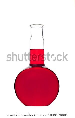 Flaska piros fehér izolált orvosi technológia Stock fotó © OleksandrO