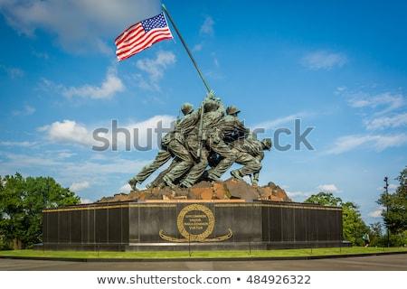háború · illusztráció · férfiak · sziluett · szobor · hadsereg - stock fotó © rmbarricarte