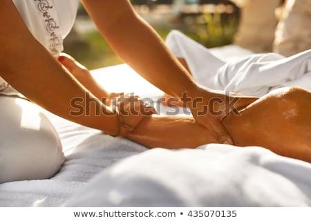 csinos · nő · masszázs · szabadtér · fürdő · egészség · szépség - stock fotó © wavebreak_media