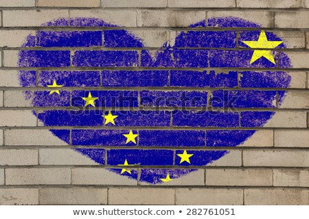 heart shape flag of alaska on brick wall Stock photo © vepar5