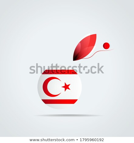 Turco icono gris aislado blanco Foto stock © zeffss