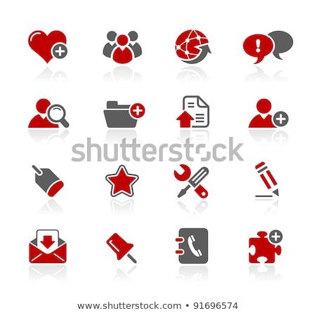 Szerszámok piros vektor ikon gomb internet Stock fotó © rizwanali3d