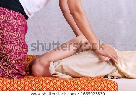 gamba · massaggio · donna · clinica · anziani · piedi - foto d'archivio © andreypopov