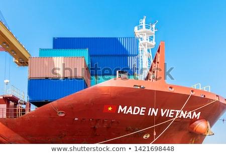 Вьетнам стране флаг карта форма текста Сток-фото © tony4urban