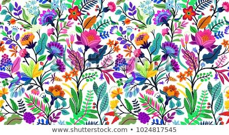 шаблон цветок птиц стиль текстуры печать Сток-фото © Galyna