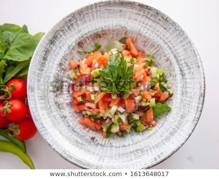 продовольствие здорового турецкий пастух Салат полный кадр Сток-фото © ozgur
