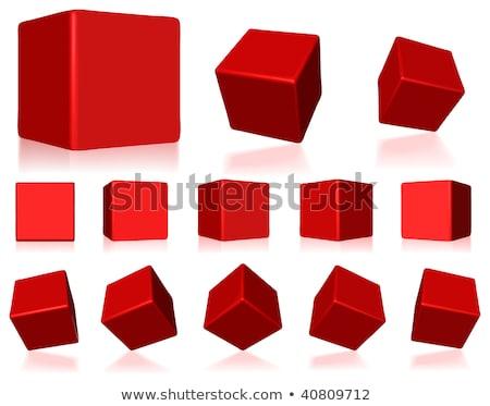 Red cube Stock photo © Alsos