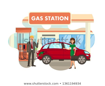 woman filling up fuel into car stock photo © rastudio