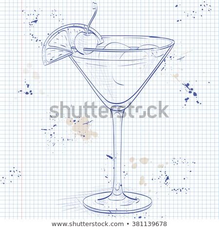 Cóctel whisky agrio cuaderno página limón Foto stock © netkov1