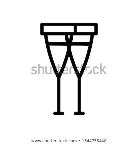 男 松葉杖 行 アイコン コーナー ウェブ ストックフォト © RAStudio