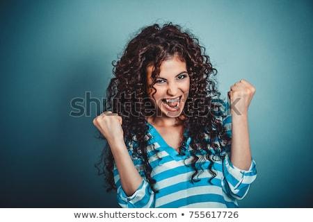 business · teken · boksen · vrouw · boos · zakenvrouw - stockfoto © aikon