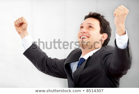 succesful man happy for his achievements Stock photo © Giulio_Fornasar