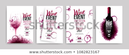 Vin vigne menu affiche flyer Photo stock © fenton