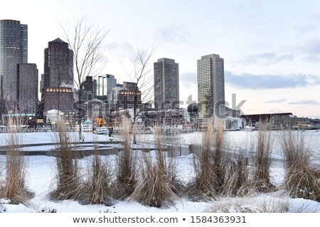 Avond Boston wolkenkrabbers Massachusetts USA Stockfoto © CaptureLight