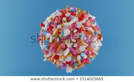Pílula cápsula transparente saúde medicina branco Foto stock © mady70