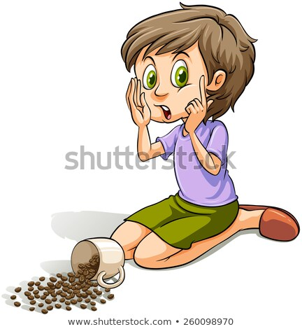 Girl spilling the beans Stock photo © bluering