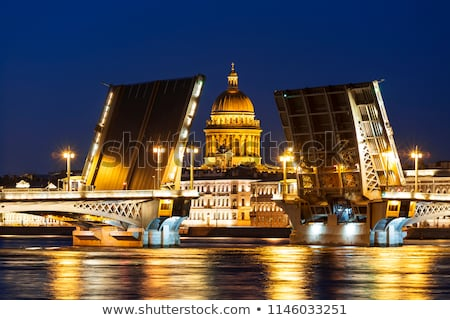 Szent kilátás folyó éjszaka Oroszország város Stock fotó © cosma
