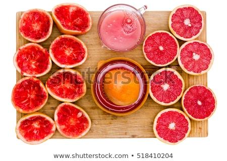 toranja · madeira · comida · fundo · vermelho · sobremesa - foto stock © ozgur