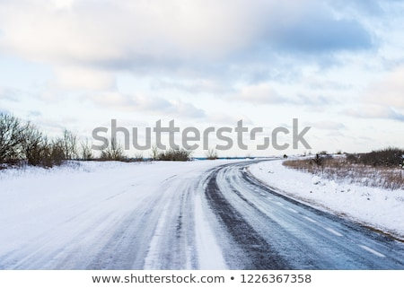 rural road covered with snow Stock photo © mady70